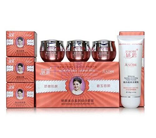 jiaobi whitening cream set of 4 with for all skin type