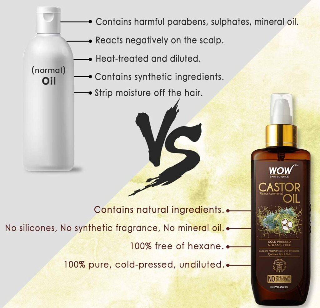 WOW Skin Science 100% Pure Castor Oil.